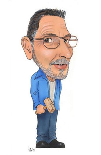Peter Oak Caricature